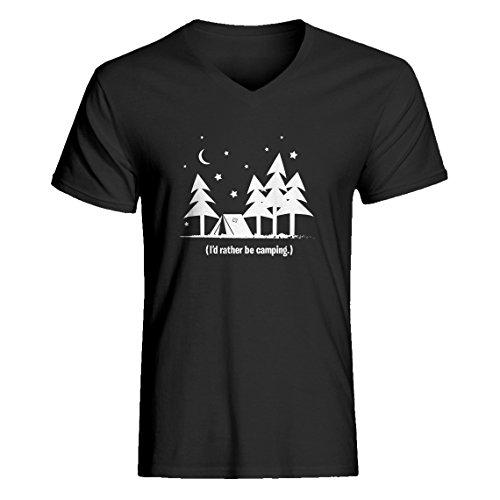 Indica Plateau Vneck I'd Rather be Camping Medium Charcoal Grey T-Shirt -