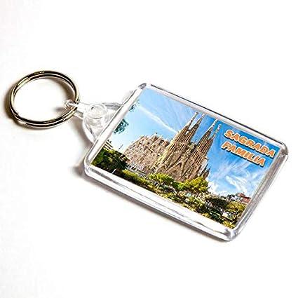 AWS Llavero Sagrada Familia Barcelona España Souvenir Barcelona Spain Key Ring de PVC Iglesia Sagrada Familia Gaudì