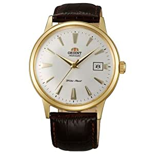 Orient Bambino Automatic Dress Watch with White Dial, Gold Tone Case ER24003W