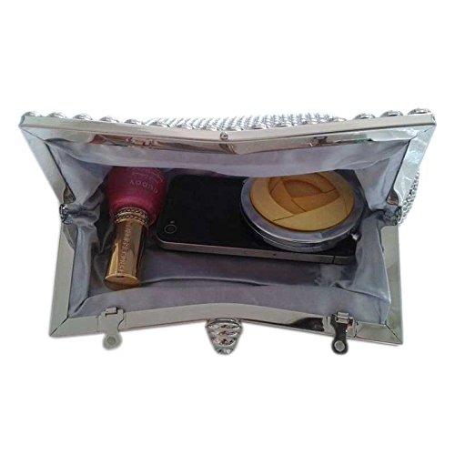 Argento Borsa Hrph argento donna 40852 03 a argento spalla ZwwRAnUq