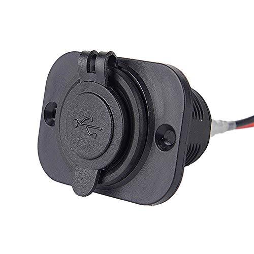 - Veepola 3.1A Waterproof Dual USB Port Charger Socket Outlet 12V LED for Motorcycle Car