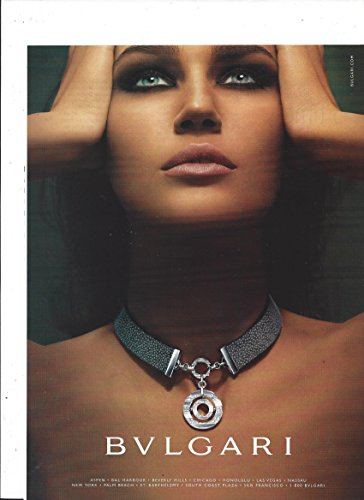 **PRINT AD** With Eugenia Volodina For 2004 Bvlgari - Sale Bvlgari Jewellery
