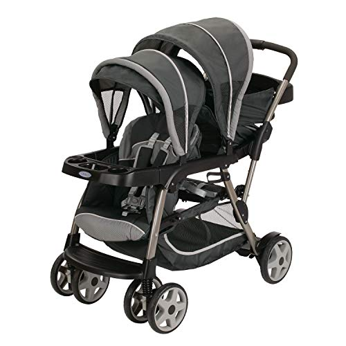 Graco Ready2Grow LX Stroller 12 Riding Options Accepts 2 Graco SnugRide Infant Car Seats, Glacier