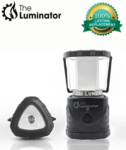 The Luminator Battery Operated LED Lantern Camping Lantern with Built-in Flashlight