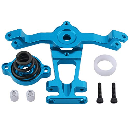 HobbyPark Aluminum Steering Arm (Upper/Lower) Servo Saver Set w/Spring Replacement of 5344 for RC Traxxas 1/10 E-Revo/Revo 3.3 /Slayer Pro 4x4 /Summit Hop-Ups (Blue) ()