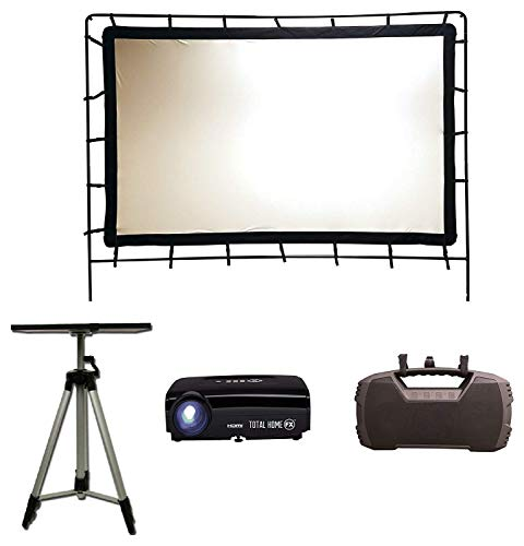 Total HomeFX Outdoor Standard Projection Theatre Kit, HDMI and Bluetooth Capable (Outdoor Home Theater)