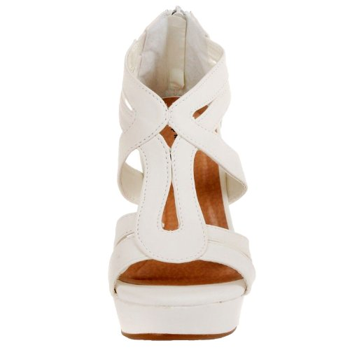 PU Sandals Gladiator Nubuck High Platform Wedge Strappy 3 JJF Lindy 7 Shoes White Dress Comfort OwpffYq