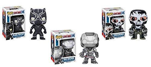 Funko Captain America 3 Civil War: War Machine, Black Panther, Crossbones Funko Pop Figure Set
