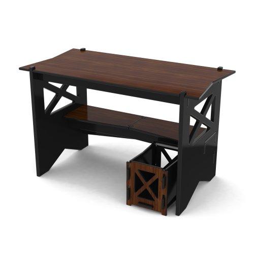 Legare Cottage Desk with File Cart, 48-Inch, Ebony/Walnut