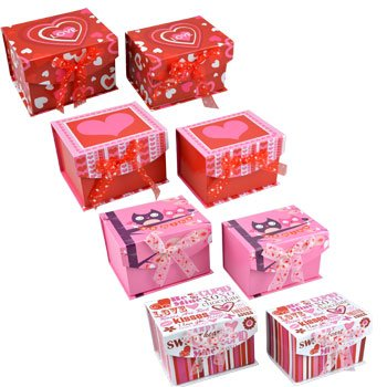 Amazon Com Set Of 2 Valentine S Day Gift Boxes 1 Nested In The