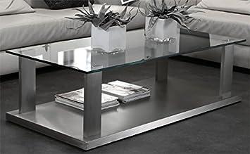 Couchtisch Glas Edelstahl Rechteckig Amazonde Küche Haushalt
