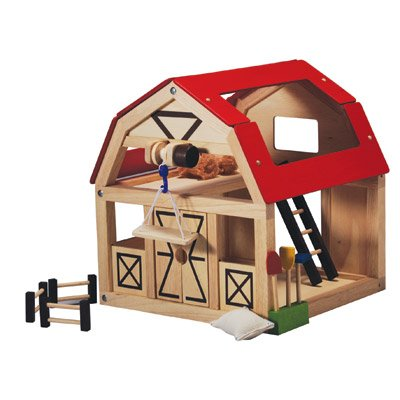 Plan Toys 7147 Wooden Toy Barn Playsets Amazon Canada
