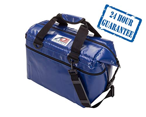 AO Coolers Sportsman Vinyl Soft Cooler with High-Density Insulation, Royal Blue, 48-Can