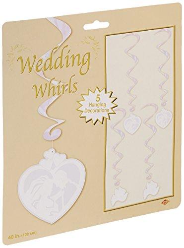 Beistle 57579 5-Pack Wedding Whirls, 3-Feet (Opalescent Spiral)