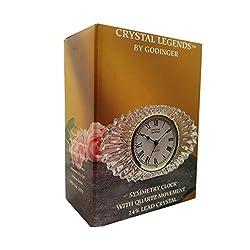 Crystal Legends By Godinger Symmetry Desk Clock With Quartz Movement