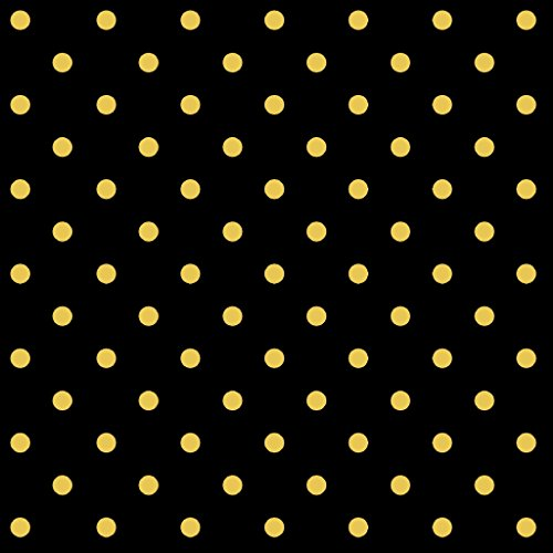 Black And Gold Fabric (Stitch & Sparkle Fabrics, Dark Romance, Gold Metallic Dot Black Cotton Fabrics, Quilt, Crafts, Sewing, Cut by The)