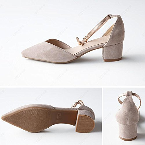 5 Tamaño Blanco Individuales Color Eu37 Mujer Medio De uk4 Caucho 5 Negro Talón Temporada Verano Sandalias Qidi Zapatos Azul 84Uq66