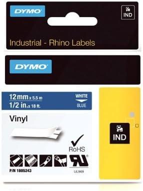 "4 PK Replace DYMO Industrial Label Tape 1805243 Permanent Vinyl Rhino 4200 1//2"""