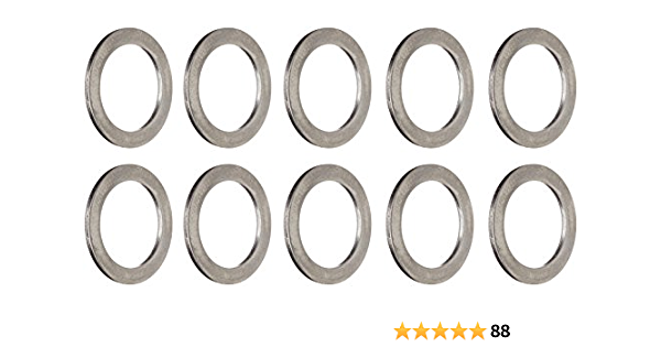 10Pcs Bicycle Pedal Spacer Crank Cycling Bike Stainless Steel Ring Washers HGUfl