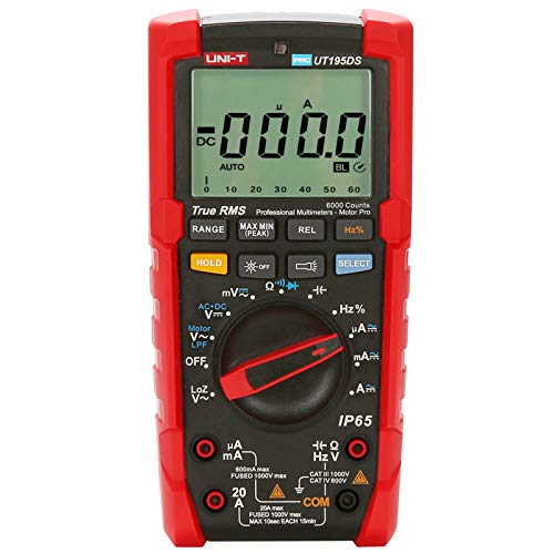 UT195DS Industrial Professional True RMS AC DC Digital Multimeter Flashlight/Low Pass Filter Test/LoZ Measurement ()
