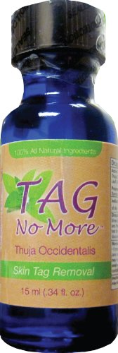 Skin Tag Remover Contains Thuja Occidentalis, 15 ml/0.34 Ounce, 100% Natural,Tag No More