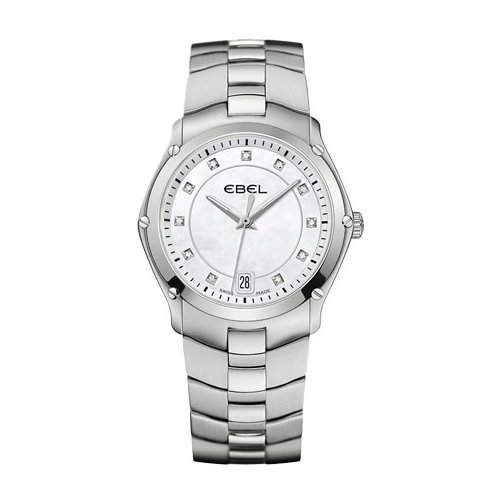 Ebel 1215986 Women's Classic Sport Diamonds Stainless Steel White Mop Dial Watch