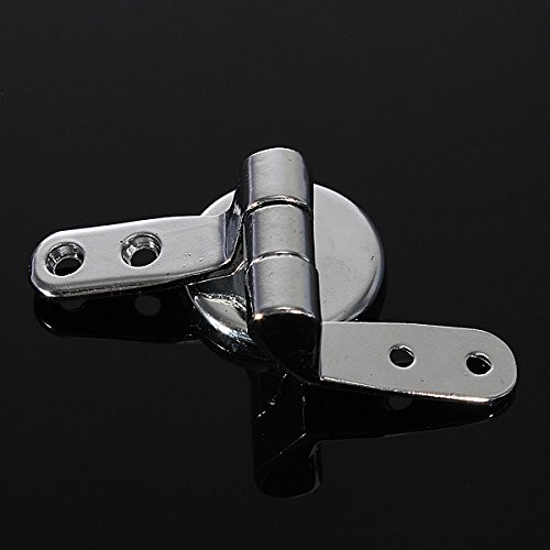 free shipping Replacement Toilet Seat Hinge Set Chrome Hinge With Fittings