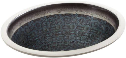 KOHLER K-14218-SP-G9 Serpentine Bronze Design on Caxton Undercounter Bathroom Sink, Sandbar (Caxton Biscuit Kohler)