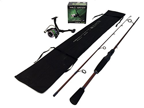 Wild Water Fly Fishing Theta Spinning Rod and Reel Package, Satin Mocha