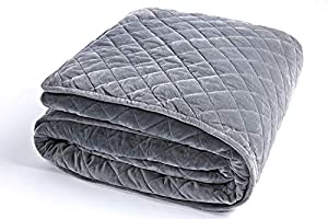 Weighted Blanket for Adults by Sivio, Perfect for Fall Asleep Faster and Sleep Better, Reduce Anxiety, Autism, Sensory Processing Disorder (Dark Gray)