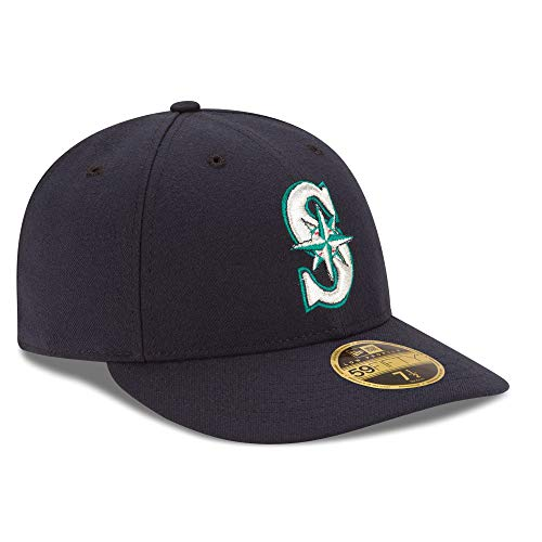 Seattle Mariners Low Profile Fitted Size 7 3/4 Hat Cap - Team Colors