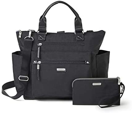 Baggallini Women's 3-in-1 Convertible Backpack, Black, One Size