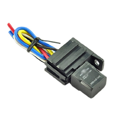 galleon 2pack car auto 30a 12v spst relay \u0026 socket kit for