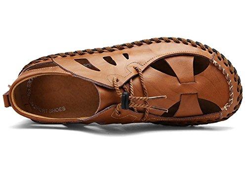 2017nuevo sandalias de cuero de los patines de Svago dei Sandalias M slittamento de cuero transpirable marrón