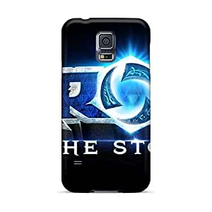 Shock Absorption Hard Cell-phone Case For Samsung Galaxy S5 With Unique Design Beautiful Rise Against Skin KellyLast