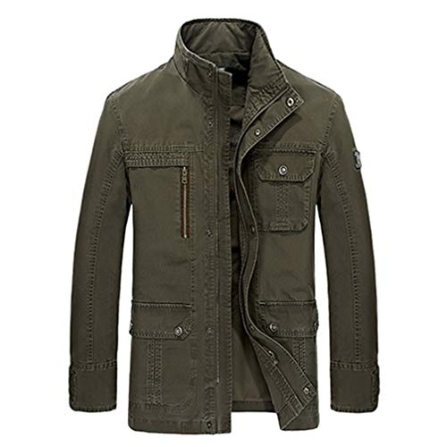 Wo.ual Bomber Denim Men Jacket Jean Military Army Cotton Male Clothing Mens Jackets Coats 1516A Army Green XXL