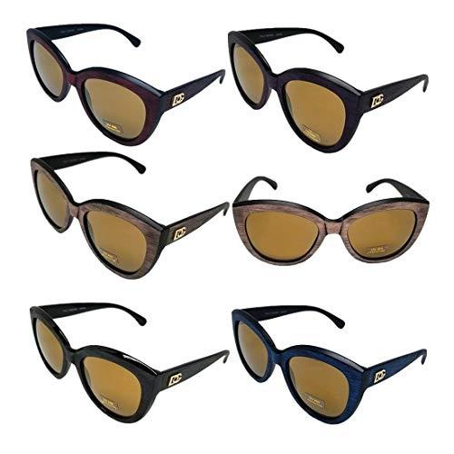 Dg Eyewear Wholesale - Wholesale Lot DG Eyewear For Women's Wooden Like Frame Cat Eye Sunglasses 423