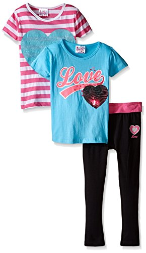 Kidzone Little Girls Matching T Shirts