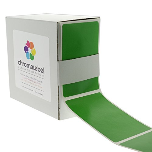 ChromaLabel 2 x 3 inch Color-Code Labels   250/Dispenser Box (Green)