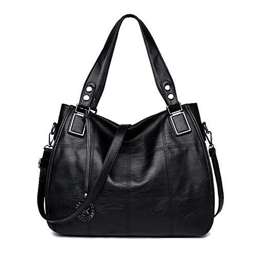Crossbody Claret Pu Women's Bags Tote Shopping Bags AalarDom TSDBH192558 Black Contrast Stitching Casual 8TWncxPZ