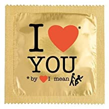 Condom: I love you, by love I mean F*ck, Novelty Joke Fun Gifts, Hen/Stag/Lover by Spencer & Fleetwood