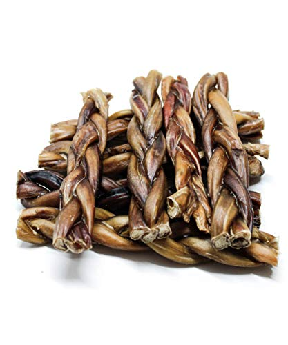 Dog Nip! 6-Inch Braided Bully Sticks (15 Pack) for Dogs or Puppies - Made in USA - All Natural & Odorless Bully Pizzle Bone - Grass Fed Organic Beef - Best Long Lasting Dog Chew Dental Treats