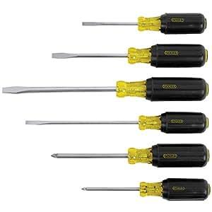 stanley 66 565 screwdriver set 6 piece home improvement. Black Bedroom Furniture Sets. Home Design Ideas