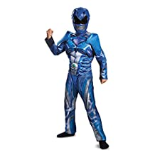 Disguise Costumes Ranger Movie Classic Muscle Costume, Blue, Medium (7-8)
