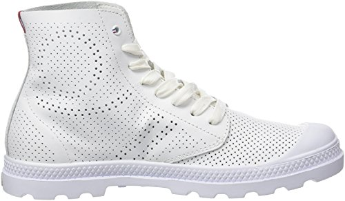 Dames De Palladium Pampa Milieu Lp Haute Perf Blanc De Chaussure (blanc 420)