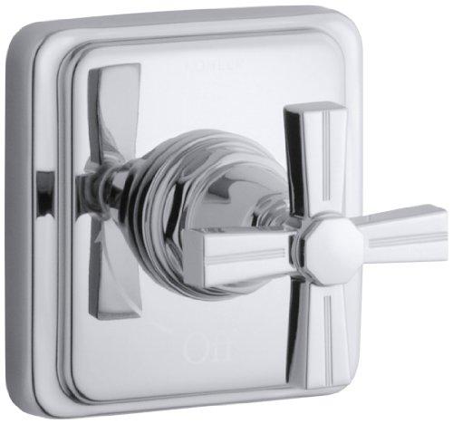 KOHLER K-T13174-3B-CP Pinstripe Volume Control Trim, Cross Handle, Polished Chrome