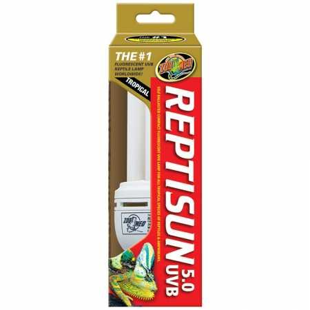 - Zoo Med ReptiSun Compact Fluorescent (5.0 UVB)