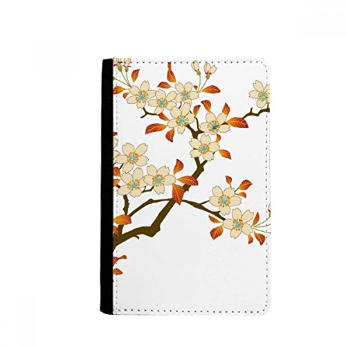 Leaves Flower Plant Wallpaper Wall Pattern Passpord Holder Travel Wallet Cover Case Card Purse Gifts by beatChong
