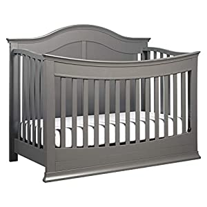 DaVinci Meadow 4-in-1 Convertible Crib with Toddler Bed Conversion Kit in Slate, Greenguard Gold Certified