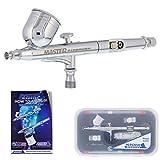 Master Airbrush G233-SET Multi-Purpose Precision Dual-Action Gravity Feed Airbrush Professional Set